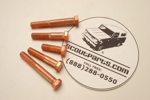 Copper-Clad Exhaust Manifold Bolt  - set of 5